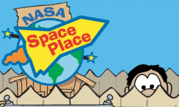"Aventurarte en el espacio en "" NASA, The Space Place """